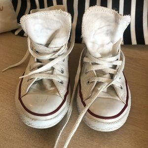 Preloved White Converse High Tops